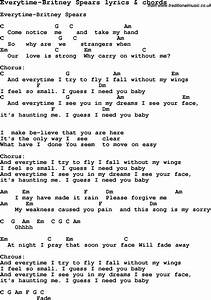 Love Song Lyrics ForEverytime Britney Spears With Chords