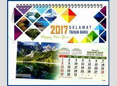 Desain kalender meja 2017 katalog AO terbaru siap diorder