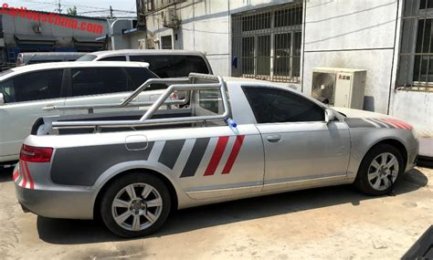 audi pickup truck spotted in china audi a6l pickup truck carnewschina com