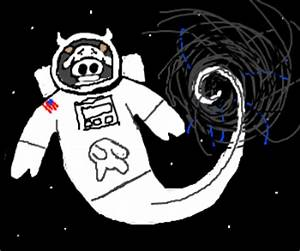 Astronaut Cow sucked into Black Hole! (drawing by ...