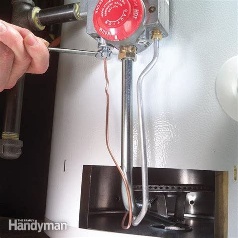 How To Replace A Water Heater Thermocouple  The Family