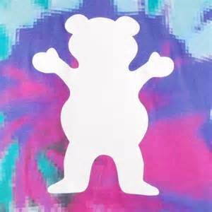 Tie Dye Grizzly Griptape Logo