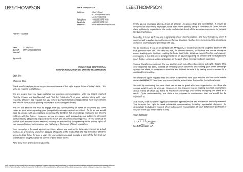 Pre Protocol Letter Template by F4j Respond To Mylene Klass Demands That Advert Is Removed
