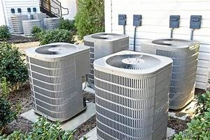 Air conditioning units at apartment complex stock photo for Air conditioning units for apartments