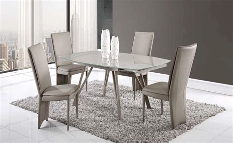 Dining Table D2177DT Champagne Glass Top by Global Furniture