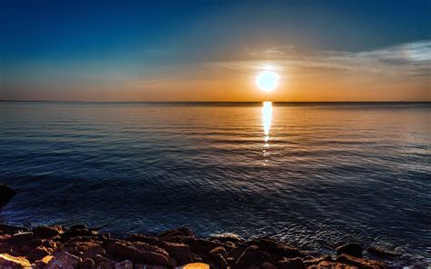 water sunrise ocean nature rocks hdr photography sea clear