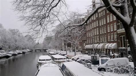 Snow In Amsterdam Youtube