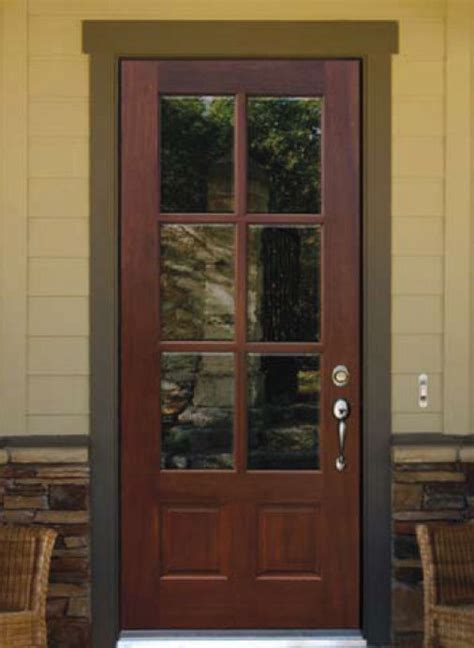 glass panel front door homeofficedecoration exterior wooden doors with glass panels