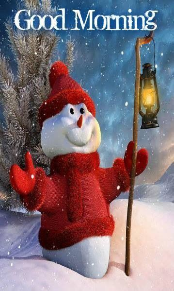 good morning happy snowman  lantern pictures