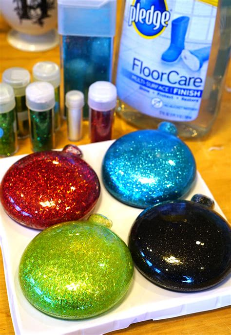 how to make ornament disney glitter christmas ornaments happiness is homemade