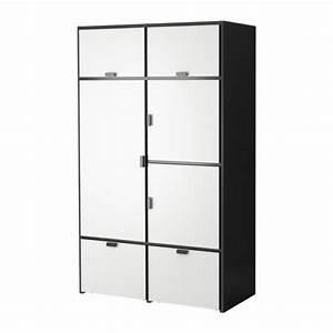 Kleiderschrank 120 Cm Breit Ikea : odda kleiderschrank schwarz wei von ikea ansehen ~ Bigdaddyawards.com Haus und Dekorationen
