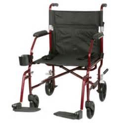medline superlight transport chair with travel bag