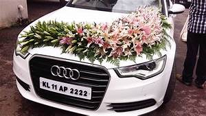 Wedding Car Decoration With Flowers - YouTube