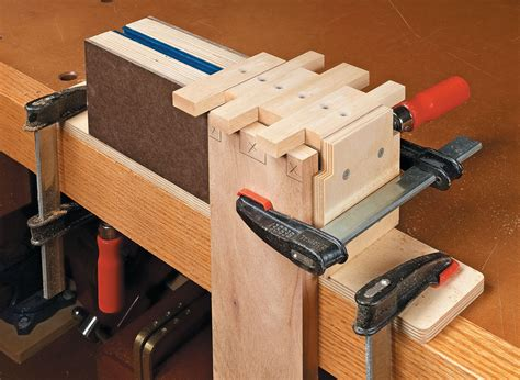 finger joint jig woodworking project woodsmith plans