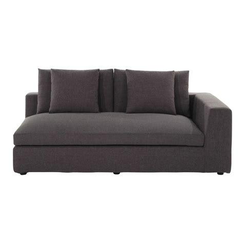 accoudoir de canapé accoudoir droit de canapé en tissu gris chiné edgard