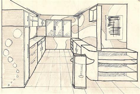 Dessin D Interieur De Maison Cuisine Croquis Dessin Interieur Maison Dessiner