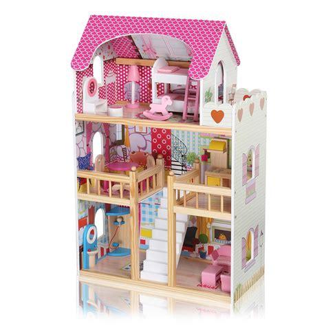 baby vivo puppenhaus rosalie aus holz mit zubeh 246 r baby spielzeug puppenh 228 user