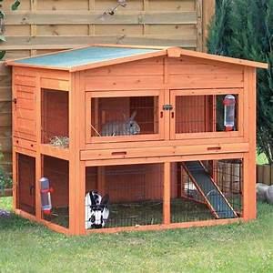 Trixie extra large rabbit hutch with attic 13768172 for Trixie dog house insulation