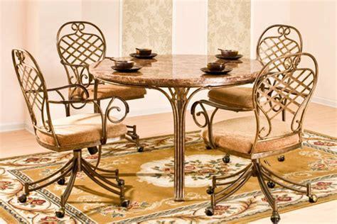 Allegra Round Table & 4 Caster Chairs at Gardner White