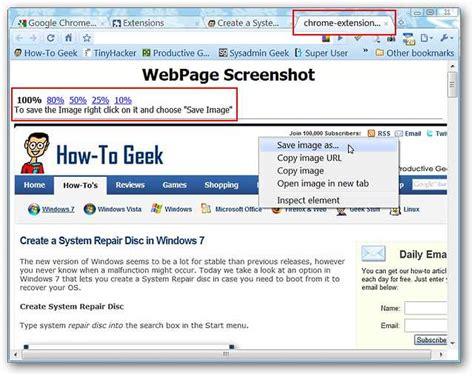 take screenshots of any webpage in chrome