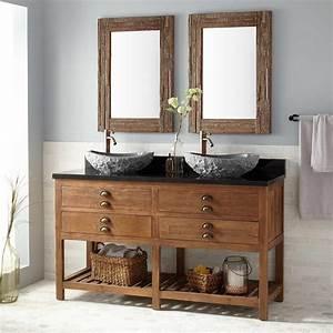 60, U0026quot, Benoist, Reclaimed, Wood, Console, Double, Vessel, Sink, Vanity, -, Pine, -, Bathroom, Vanities
