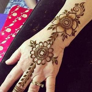 Best & Simple Arabic Eid Henna Mehndi Designs Image for ...