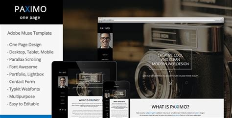 adobe muse mobile templates responsive adobe muse templates themes free 56pixels