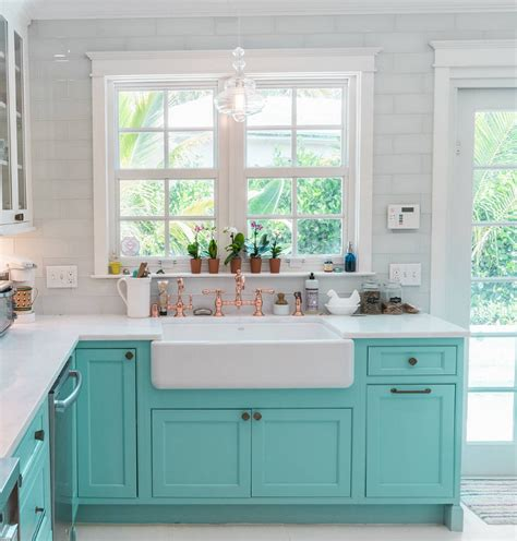 turquoise kitchen cabinets custom kitchen with turquoise cabinets home bunch 2968