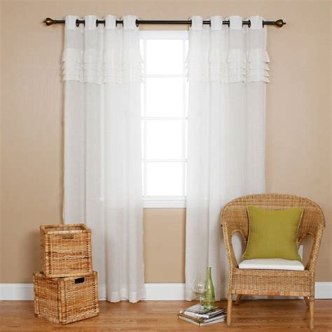 iyuego grommet top pleated white sheer window curtains
