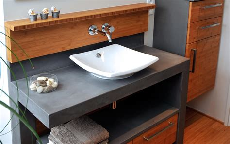 béton ciré plan de travail cuisine castorama salle de bain à nantes fabricant de meubles sur mesure