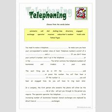 Telephoning Basic Vocabulary Worksheet  Free Esl Printable Worksheets Made By Teachers