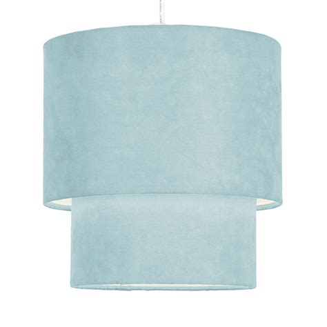 teal blue faux suede ceiling pendant light l shade ebay