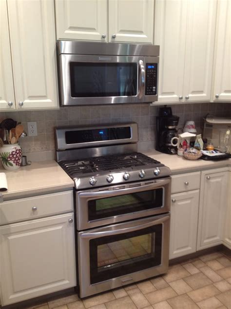 kitchen aid double oven gas range    range