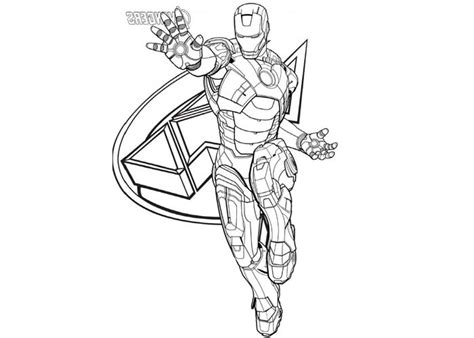 iron man avengers coloring pages