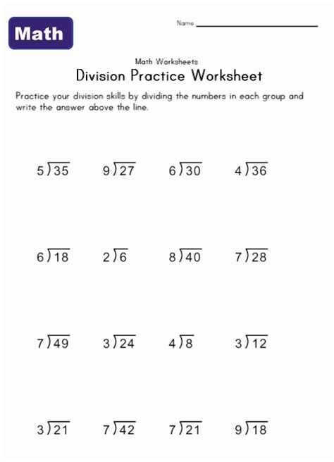 division worksheets simple simple division worksheets learning station