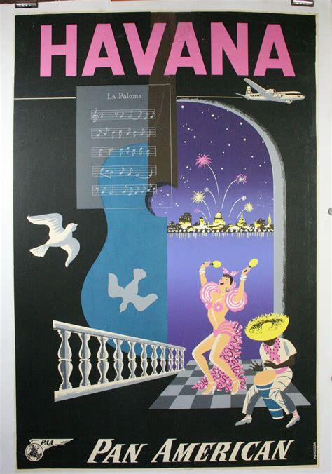 havana poster restoration brittle paper   travel poster