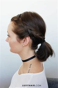 Cute Ponytail Hairstyles Short Hair