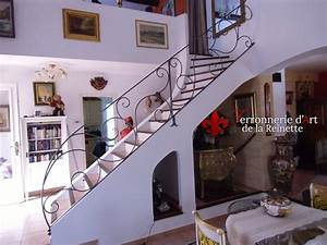 Escalier De Maison Interieur : rampe d 39 escalier en fer forg aix en provence ~ Zukunftsfamilie.com Idées de Décoration