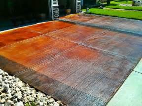 Acid Stain Floor by Acid Stained Driveway Floriartisan Spokane Polished