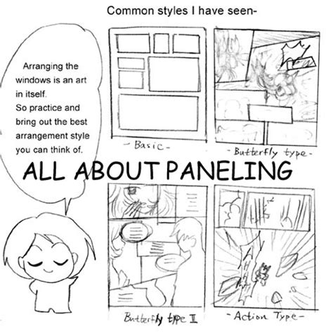paneling tips for manga by mayshing on deviantart