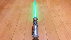 Luke Skywalker ROTJ Ultimate FX Lightsaber Review - YouTube  Lightsaber