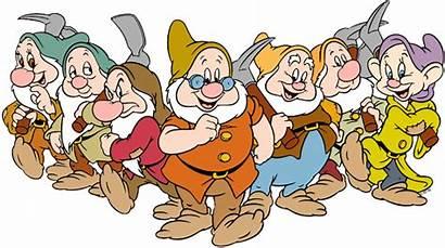 Dwarfs Seven Nani Sette Clipart Clip Disney