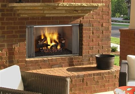 villawood  outdoor wood burning fireplace fines gas