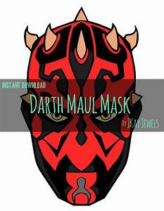 Darth Maul Photobooth Mask Star Wars Silhouette SVG File For