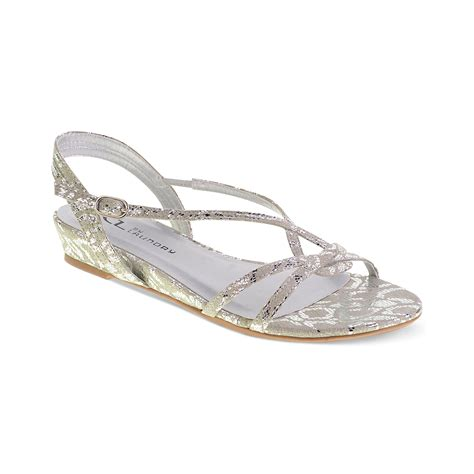 flat silver shoes laundry cl by laundry shoes silvie flat sandals in