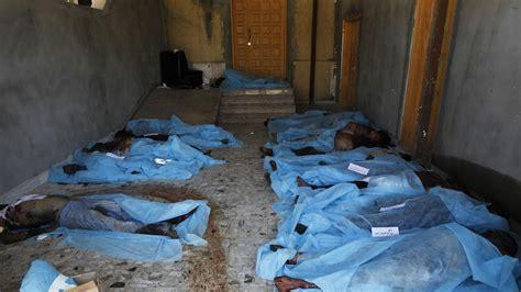 bodies pile   libyan hospital