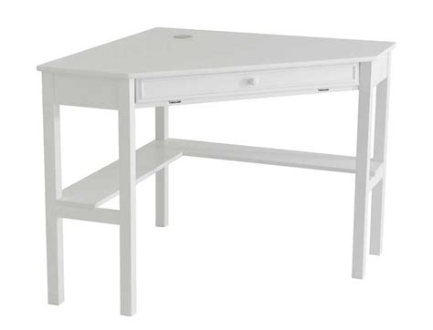 Small White Corner Desk With Drawers by White Wood Desks Painting