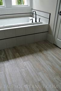 Bathrooms with wood tile floors home decoration club for Wood tile bathroom flooring