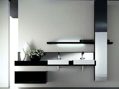 Bathroom Vanity Designer by Milldue Kubik 53 Lacquered Black Modern Italian Bathroom
