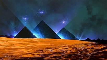 Pyramid Egypt Wallpapers Night Egyptian Pyramids Desert